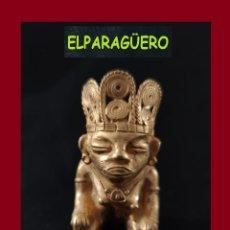 Arte: FIGURA DE ORO TUMBAGA PESO 80 GRAMOS ES UNA MUJER CHAMAN PRECOLOMBINA QUIMBAYA. Lote 276049383