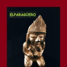 Arte: FIGURA DE ORO TUMBAGA PESO 220 GRAMOS ES UNA MUJER INDIA EMBRAZADA PRECOLOMBINA QUIMBAYA. Lote 276049793