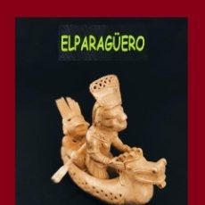 Arte: FIGURA DE ORO TUMBAGA PESO 172 GRAMOS SON 2 CHAMANES PASEANDO EN BARCA PRECOLOMBINO QUIMBAYA. Lote 276051813