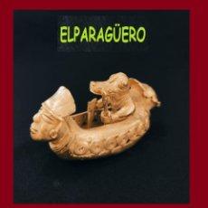 Arte: FIGURA DE ORO TUMBAGA PESO 134 GRAMOS ES UN PECADOR ZOOMORFICO PRECOLOMBINO QUIMBAYA. Lote 276052138