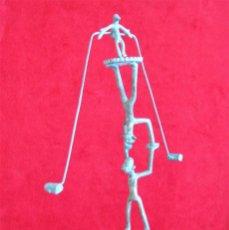 Arte: MOVIL - COMPOSICION DE FIGURAS EN EQUILIBRIO BRONCE ARTESANAL CON PÁTINA Y GRABADOS. Lote 276080278