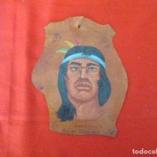 Arte: INDIGENA GUALCAIPURO PINTURA SOBRE PIEL. Lote 276453818