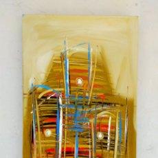 Arte: OLEO SOBRE LIENZO, DEL ARTISTA AFRICANO NSHOLE, FIRMADO, FECHADO 2005, 50X30 CM. Lote 277474338