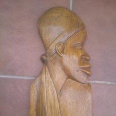 Arte: TALLA ROSTRO INDIGENA AFRICANO. Lote 277518368