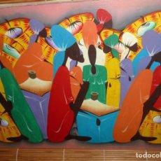 Arte: PINTURA ÓLEO SOBRE LIENZO, FIRMADO. ESCENA AFRICANA. Lote 277855253