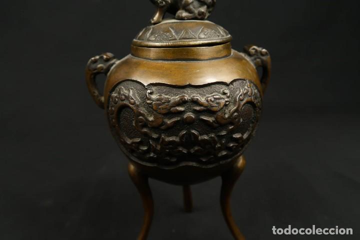 Arte: Antiguo Incensario Chino de Bronce - Foto 2 - 278494873