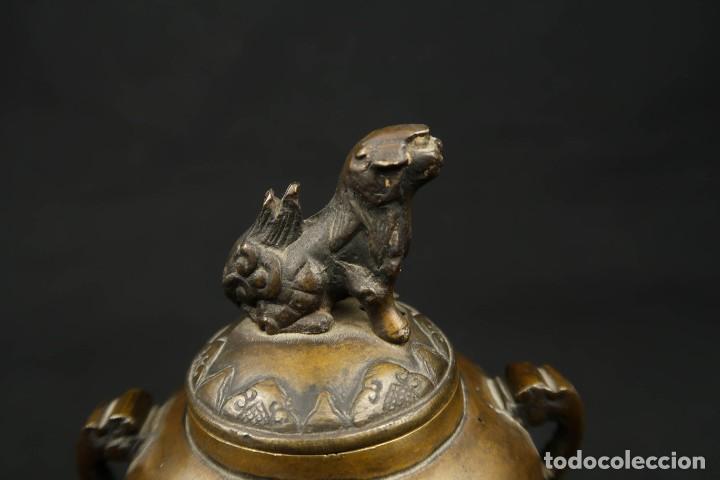 Arte: Antiguo Incensario Chino de Bronce - Foto 6 - 278494873