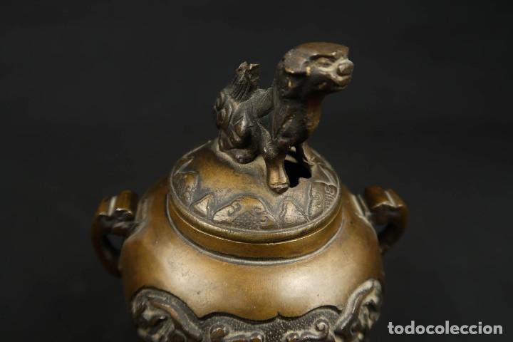 Arte: Antiguo Incensario Chino de Bronce - Foto 7 - 278494873