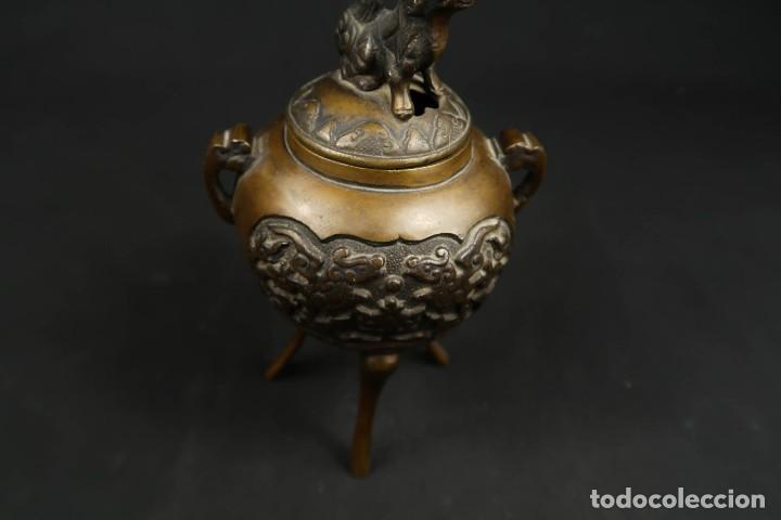 Arte: Antiguo Incensario Chino de Bronce - Foto 8 - 278494873
