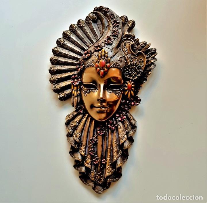Arte: Máscara Veneciana. Flor. 32x19x5cm - Foto 6 - 278798338