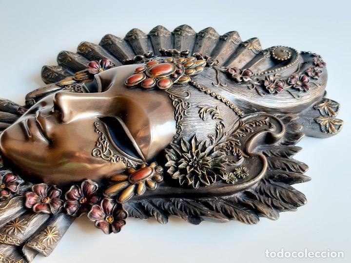 Arte: Máscara Veneciana. Flor. 32x19x5cm - Foto 8 - 278798338