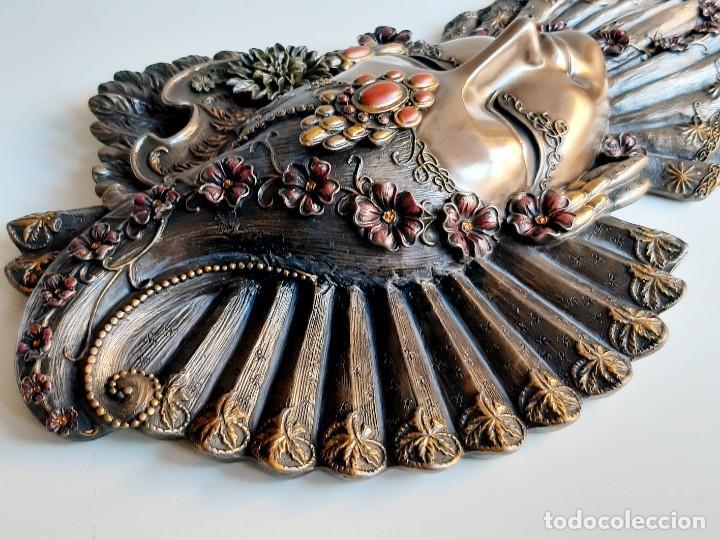 Arte: Máscara Veneciana. Flor. 32x19x5cm - Foto 9 - 278798338