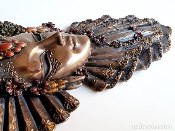 Arte: Máscara Veneciana. Flor. 32x19x5cm - Foto 10 - 278798338