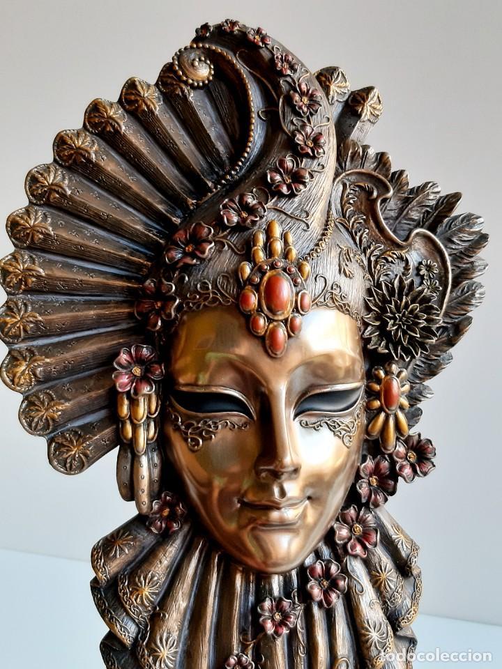 Arte: Máscara Veneciana. Flor. 32x19x5cm - Foto 5 - 278798338