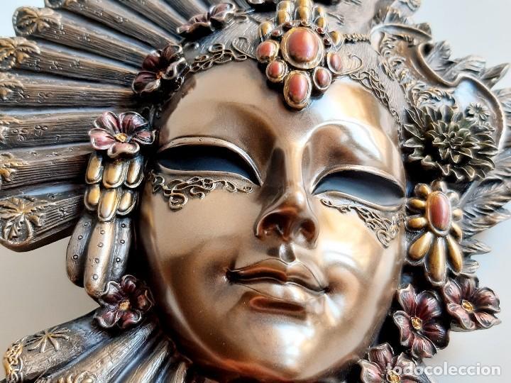 Arte: Máscara Veneciana. Flor. 32x19x5cm - Foto 3 - 278798338
