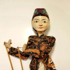 Arte: MARIONETA ORIENTAL ARTICULADA INDONESIA DE MADERA TALLADA Y PINTADA A MANO BPY. Lote 280396098