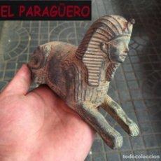 Arte: ANTIGUA FIGURA DE EGIPTO DE BRONCE PESA MAS DE 700 GRAMOS ( ESFINGE DE LOS REYES EGIPCIOS ). Lote 280820303
