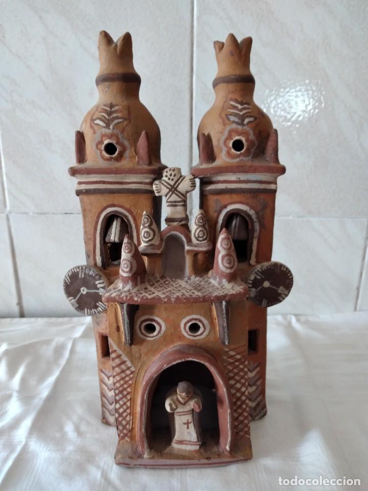 Arte: iglesia de cerámica marcial limaco. artesanía, muy detallada. años 70/80, peru - Foto 2 - 280994268