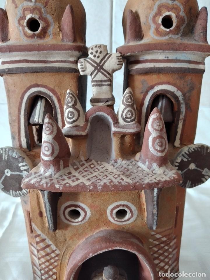Arte: iglesia de cerámica marcial limaco. artesanía, muy detallada. años 70/80, peru - Foto 3 - 280994268