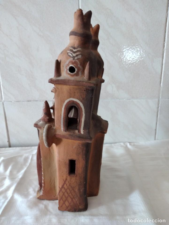 Arte: iglesia de cerámica marcial limaco. artesanía, muy detallada. años 70/80, peru - Foto 8 - 280994268