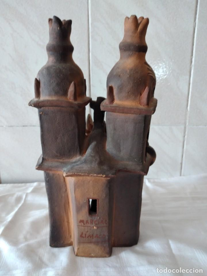 Arte: iglesia de cerámica marcial limaco. artesanía, muy detallada. años 70/80, peru - Foto 9 - 280994268