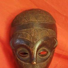 Arte: MASCARA KUMU , CONGO , MADERA (26 X 17) 1ª MITAD S.XX. Lote 283130528