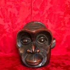 Arte: CARETA TIPO CASCO DE UN GORILA, CREEMOS QUE ES DEL CONGO AFRICA. Lote 285215648
