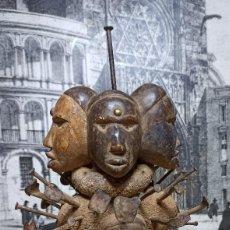 Arte: BAKONGO NKONDI NKISI NKUYO FIGURA CENTRO AFRICANA BARRO MADERA HIERRO ARTE AFRICANO MUSEO. Lote 287445113
