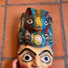 Arte: MÁSCARA MADERA PINTADA MÉXICO. Lote 287654343