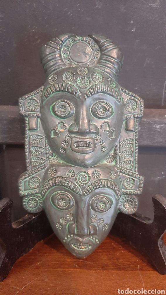 BONITA FIGURA DE CARAS TERRACOTA CERAMICA MARQUEZ HUELVA (Arte - Étnico - Europa)