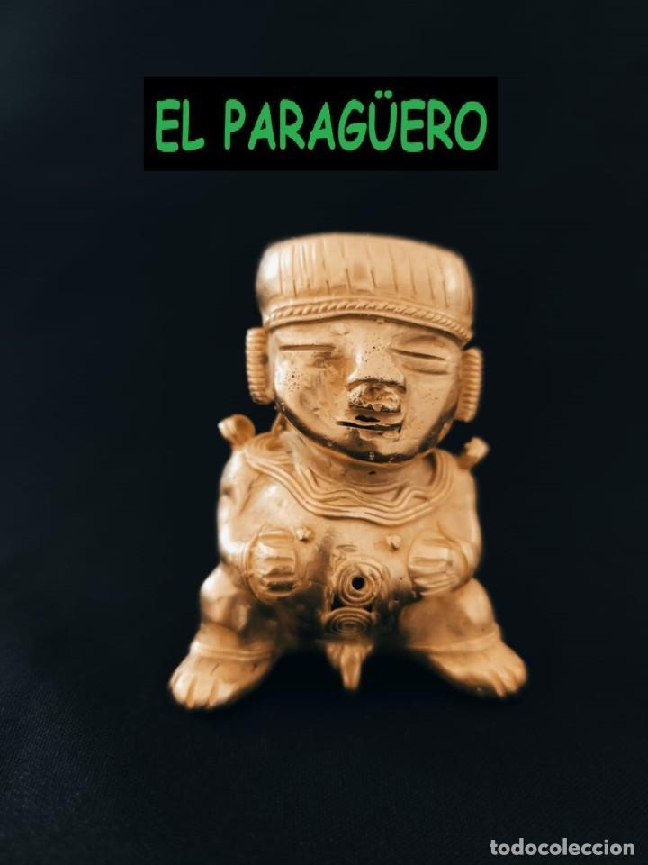 FIGURA DE ORO TUMBAGA PESO 80 GRAMOS ES UN INDIO CHOLITO PRECOLOMBINO QUIMBAYA (Arte - Étnico - América)