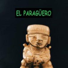 Arte: FIGURA DE ORO TUMBAGA PESO 80 GRAMOS ES UN INDIO CHOLITO PRECOLOMBINO QUIMBAYA. Lote 288227788