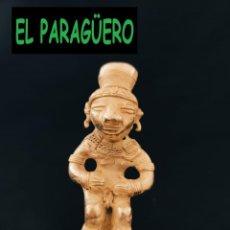 Arte: FIGURA DE ORO TUMBAGA PESO 91 GRAMOS ES UN CAZADOR DE COCODRILOS PRECOLOMBINO QUIMBAYA. Lote 288228523