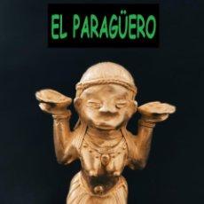Arte: FIGURA DE ORO TUMBAGA PESO 90 GRAMOS ES UN MUJER CON ATUENDOS PRECOLOMBINO QUIMBAYA. Lote 288228818
