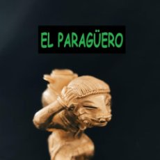 Arte: FIGURA DE ORO TUMBAGA PESO 83 GRAMOS ES UN INDIO CANASTERO PRECOLOMBINO QUIMBAYA. Lote 288229038