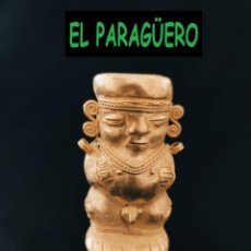 Arte: FIGURA DE ORO TUMBAGA PESO 75 GRAMOS ES UN HUMANOIDE ANTROPOMORFO PRECOLOMBINO QUIMBAYA. Lote 288229628