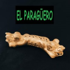 Arte: FIGURA DE ORO TUMBAGA PESO 60 GRAMOS ES UN JAGUAR ANTROPOMORFO DE 2 CABEZAS PRECOLOMBINO QUIMBAYA. Lote 288230058