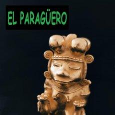 Arte: FIGURA DE ORO TUMBAGA PESO 123 GRAMOS ES UN CHAMAN QUIMBAYA PRECOLOMBINO QUIMBAYA. Lote 288231858