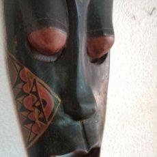Arte: ANTIGUA MÁSCARA ETNICA, AFRICANA DE MADERA TALLADA. Lote 288369088