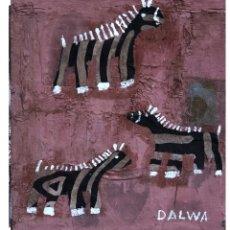 Arte: ZEBRAS EN ROSA. Lote 288547398