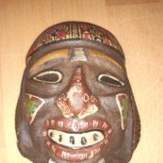 Arte: MASCARA MAYA AZTECA DE MADERA. VER DESCRIPCIÓN. Lote 292540618