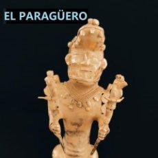 Arte: FIGURA DE ORO TUMBAGA PESO 430 GRAMOS ES UN HOMBRE GUERRERO COCODRILO PRECOLOMBINO QUIMBAYA. Lote 294112603