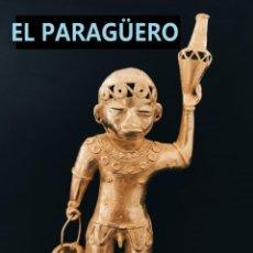 Arte: FIGURA DE ORO TUMBAGA PESO 410 GRAMOS ES UN INDIO EN TRIBUTO AL AGUA PRECOLOMBINO QUIMBAYA. Lote 294112763