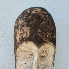 Arte: GIGANTE MASCARA AFRICANA - ETNIA FANG - GABÓN - 1,O4 METROS.. Lote 294815543