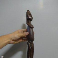 Arte: ANTIGUA ESCULTURA AFRICANA DE MADERA TALLADA, ORIGINAL DE TRIBU DOGON. Lote 295590363