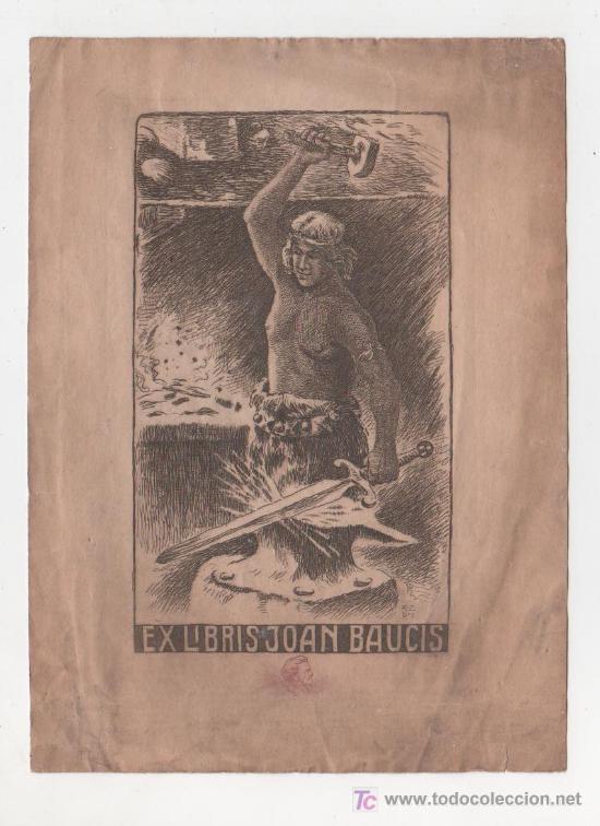 (ALB-TC-20) EX LIBRIS JOAN BAUCIS (Arte - Ex Libris)