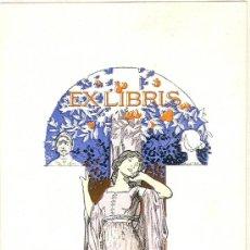 Arte: EX-LIBRIS MODERNISTA, ORIGINAL DE RIQUER PARA EL DR. NEUMANN. AÑO 1907. Lote 30913418