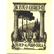 Arte: EX LIBRIS / JOSEP A. MIRÓ SOLÁ.. Lote 27207108