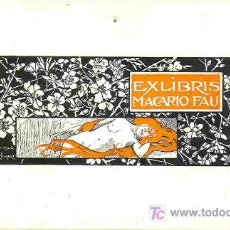 Arte: ALEXANDRE DE RIQUER. EX-LIBRIS MODERNISTA PARA MACARIO FAU. AÑOS 20. Lote 30419497