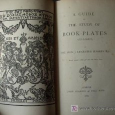 Arte: 1880 A GUIDE TO THE STUDY OF BOOKPLATES ,EX-LIBRIS GUÍA PARA EL ESTUDIO DE LOS EX-LIBRIS. Lote 27216970